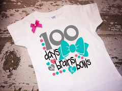 100 Days of Brains and Bows Shirt With Bow