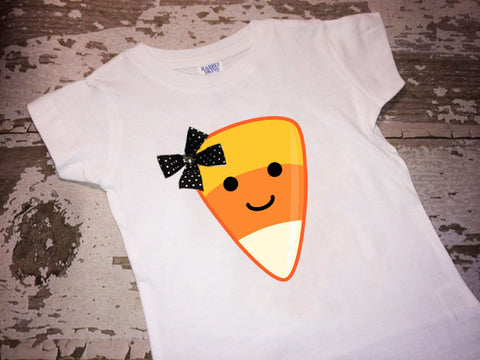 Girly Candycorn with Bow