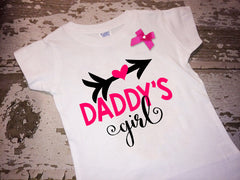 Daddy's Girl Shirt with Bow