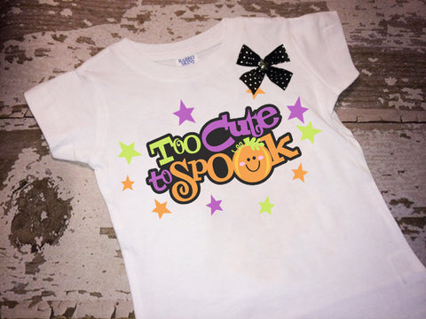 Too Cute to Spook Shirt with Bow