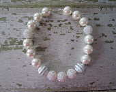 Sweet Classic White Chunky Bead Necklace