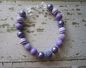 Sweet Purple Chunky Bead Necklace