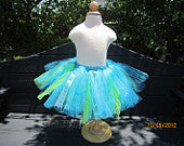 Turquoise and Green Tutu with Ribbon Accents