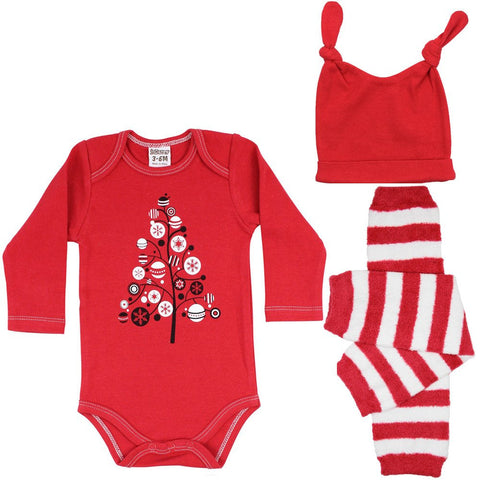 Christmas Onesie, Legwarmers and Hat Set