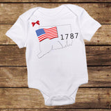 Connecticut 1787 Shirt with Bow