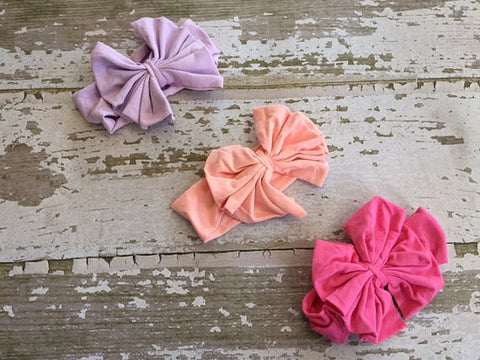 Cotton Large Bow Headband in 3 Colors