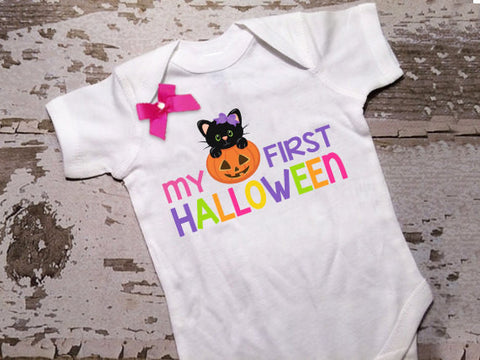 My First Halloween Shirt with Bow