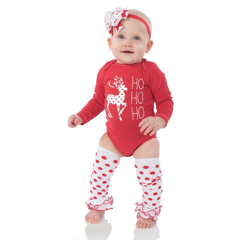 Christmas Onesie, Legwarmers and Headband Set