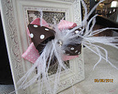 OTT Brown and Pink Boutique Bow