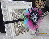 OTT Colorful Zebra Tulle Headband