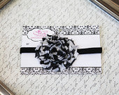 Simple Frayed Zebra Black Headband