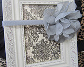 Gray Chiffon Flower Headband