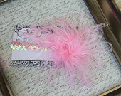 Light Pink Curly on Light Pink Sequin Headband