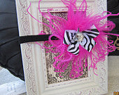 The Best Black, White and Pink Zebra Headband
