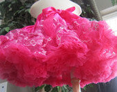 Hot Pink Sparkle Lace Pettiskirt