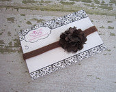Chocolate Brown Mesh Flower on Chocolate Skinny Headband