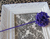 Purple Mesh Flower Super Skinny Headband