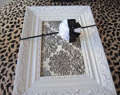 White Ruffle Flower with Black Sequin Bow Super Skinny Headband