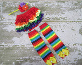 Rainbowtastic Bloomers, Legwarmers and Headband Set