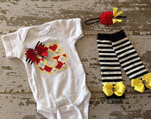 Superhero/Angry Birds Inspired Shirt, Legwarmers and Headband Set