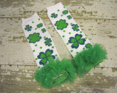 St. Patrick's Day Legwarmers with Green Ruffles
