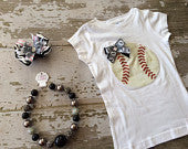 Chicago White Sox Shirt, Necklace and Hairbow Set