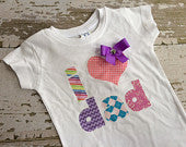 I Love Dad T-Shirt with Bow
