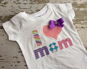 I Love Mom T-Shirt with Bow