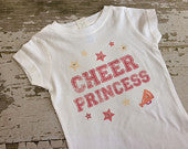 Cheer Princess Shirt with Rhinestone Accents
