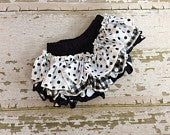 Black and White Mixed Prints Bloomers