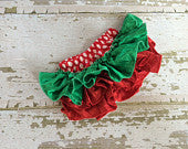 Strawberry Satin Ruffle Bloomers