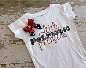Little Patriotic Princess T-Shirt with Bow