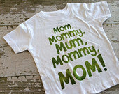 Mom Mommy Mum Mommy MOM Shirt