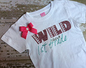 Wild About 1st Grade T-Shirt with Bow