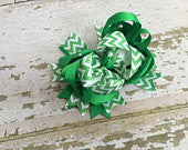Green Chevron OTT Bow