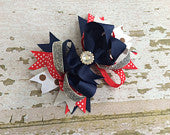 OTT Red, Blue and White Bow