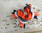 OTT Orange, Blue and White Bow