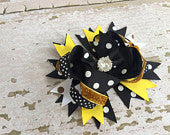 OTT Black and Yellow Bumblebee Bow