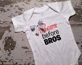 Bows Before Bros Shirt/Onesie with Bow