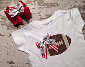 Kansas City Chiefs Shirt and Hairbow Set
