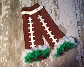 Football Legwarmers with Green and White Ruffles/Philadelphia Eagles/New York Jets/Michigan State