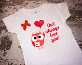 Owl Always Love You Shirt with Bow