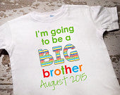 Personalized I'm Going to be a Big Brother Shirt