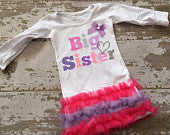 Glitter Big Sister Tunic with Bow
