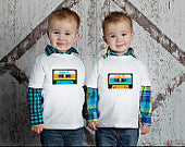 Cassette Tape Twin Shirt Set