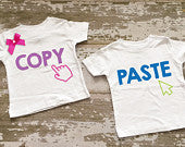 Copy and Paste Twin Boy/Girl Shirt Set