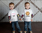 Milk & Cookies Twin Shirt Set