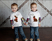 Funny Bunny Twin Shirt Set