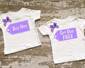 Buy One Get One Free Twin Girls Shirt Set with Bows