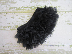 Black Lace Ruffle Bloomers